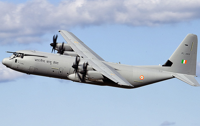 Indian Air Force C-130J Crashes, Five Killed