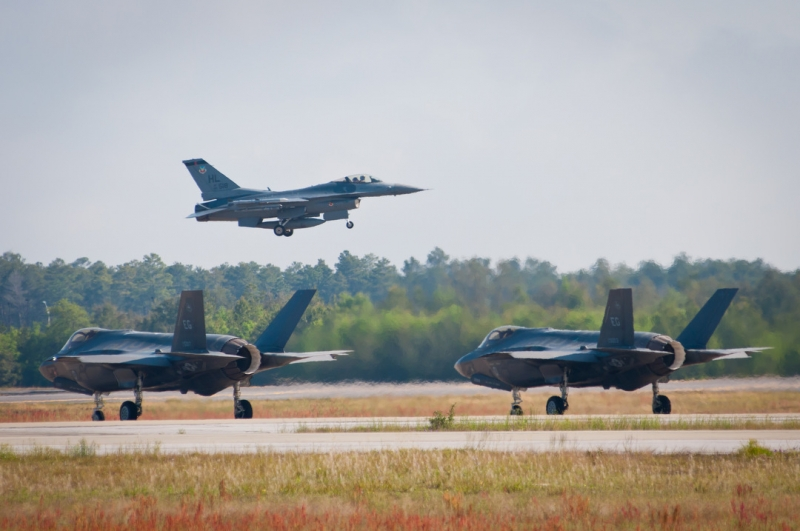 F-35s Take On F-16s in Air Combat Training