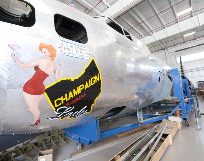 B-17 'Champaign Lady' Resto Progressing