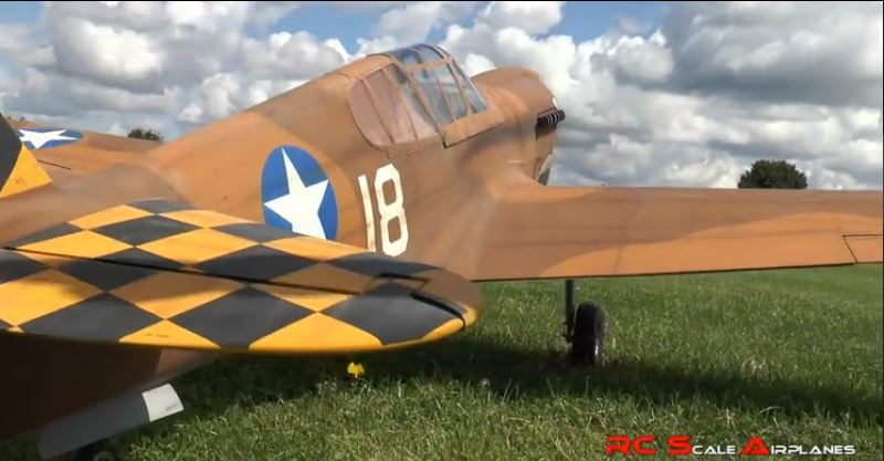 Monster Model P-40 Warhawk: First Flight Video!