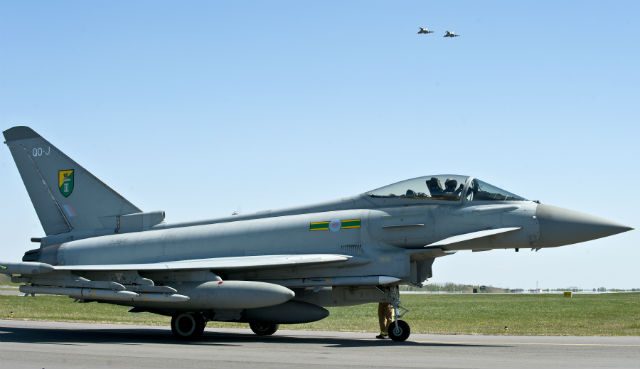 RAF Typhoons Support Baltic Police Mission