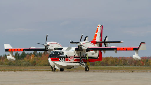 Water Bomber Relieves Oklahoma