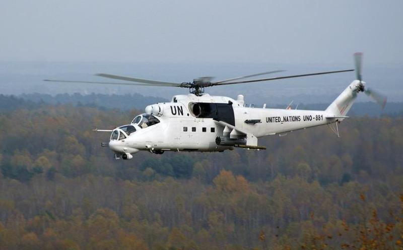 Ukraine Under Fire for UN-Painted Mi-24s