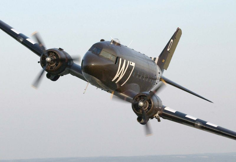 C-47 'Whiskey 7' Heads Back to the Beach