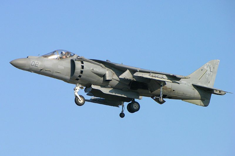 Harrier Crash One of Two Regional Accidents