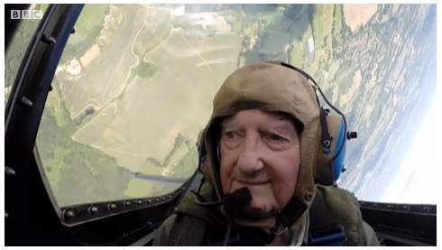 91-Year-Old Fighter Vet Flies Spitfire