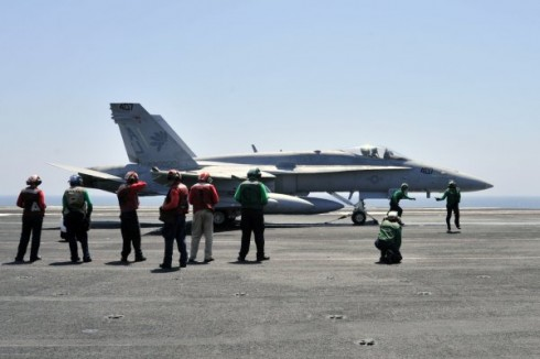 Navy Hornets Take Fight to ISIL