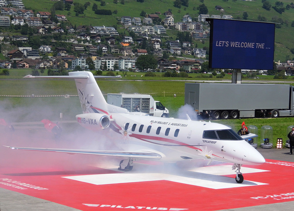 Pilatus Rolls Out First Biz Jet