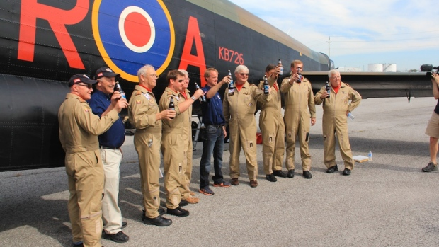 Canadian Lancaster Home After British Tour