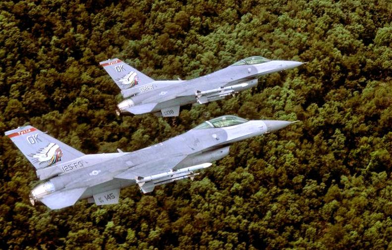 Pilots Safe After F-16s Collide