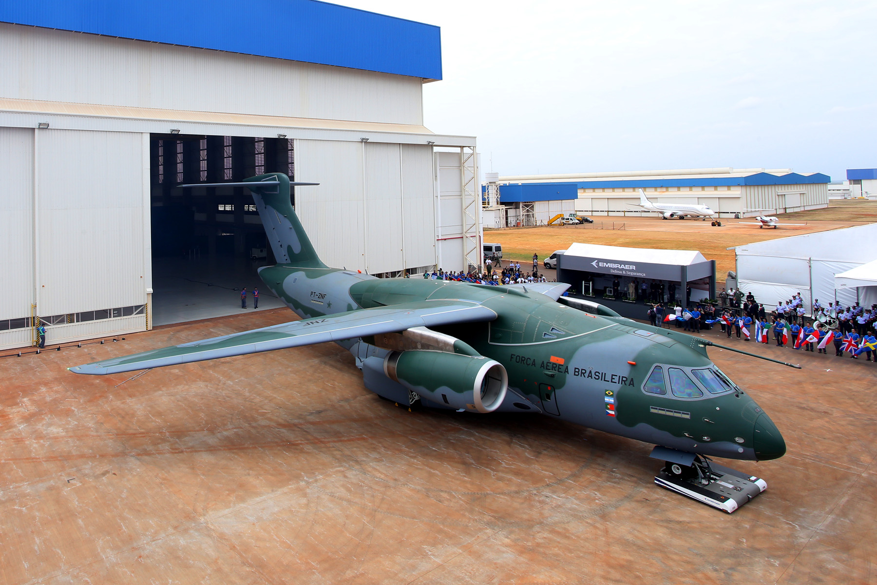 Embraer Rolls Out KC-390 Prototype