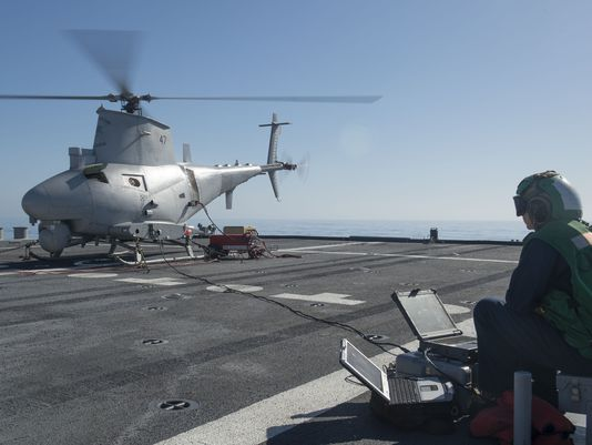 Seahawk, Fire Scout Deploy Together