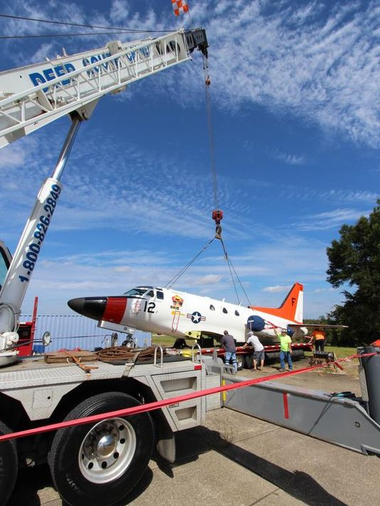 Retired Navy Trainer Gets New Life
