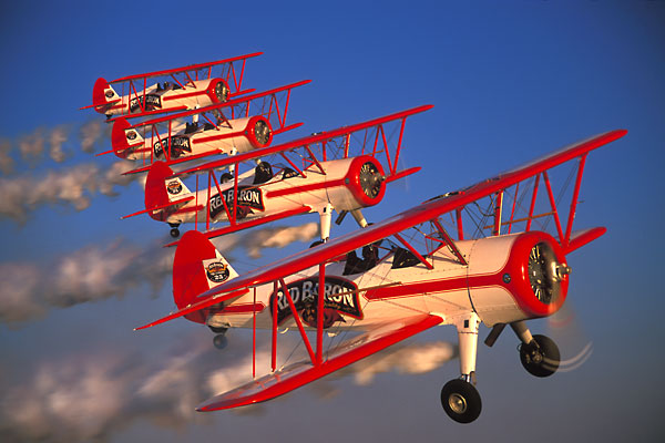 Red Baron Stearman Returns to the Air