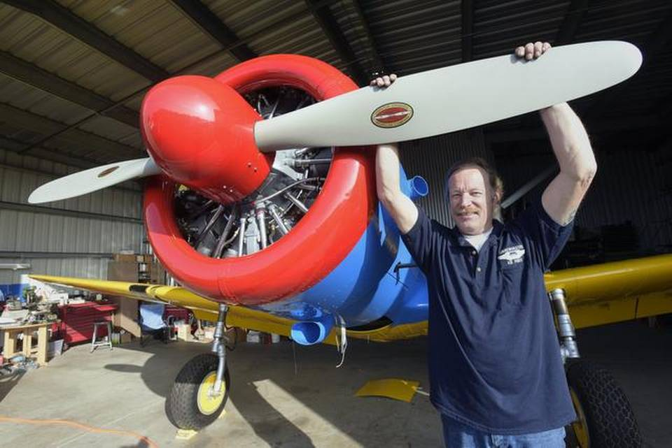 Vultee Trainer Readied to Fly Again