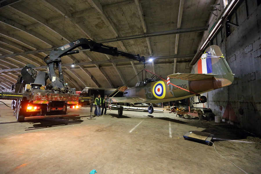Defiant Replica Leaves RAF Cosford