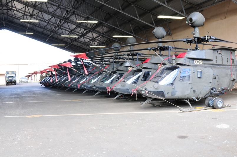 Army Unit Says Farewell to OH-58s