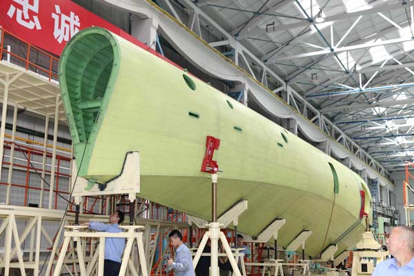 New Chinese Seaplane Nearing Completion
