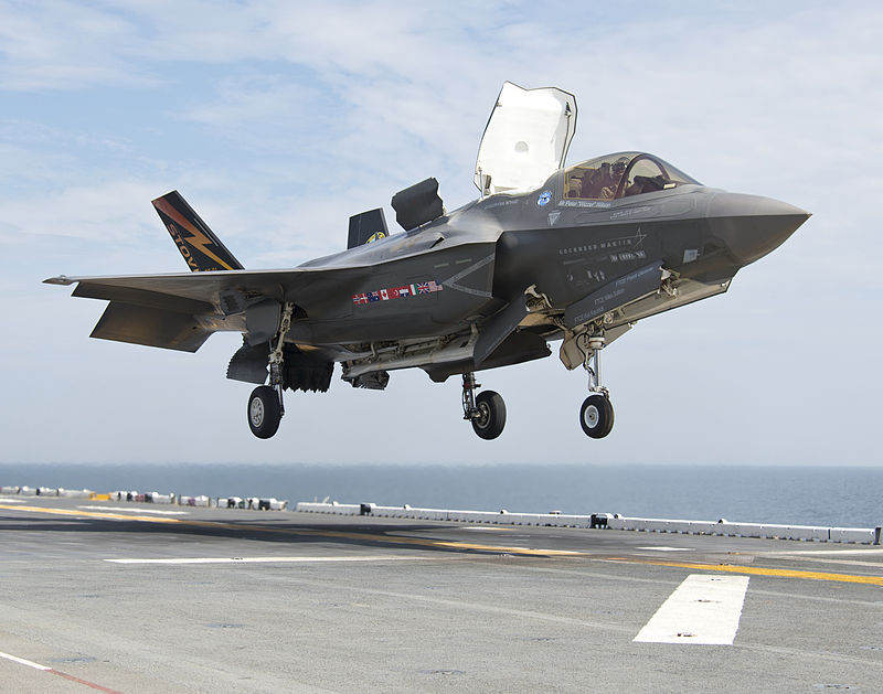 Marine F-35Bs Gather on USS Wasp