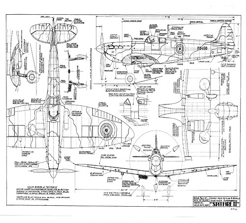 Supermarine Spitfire – Free Wylam Drawing
