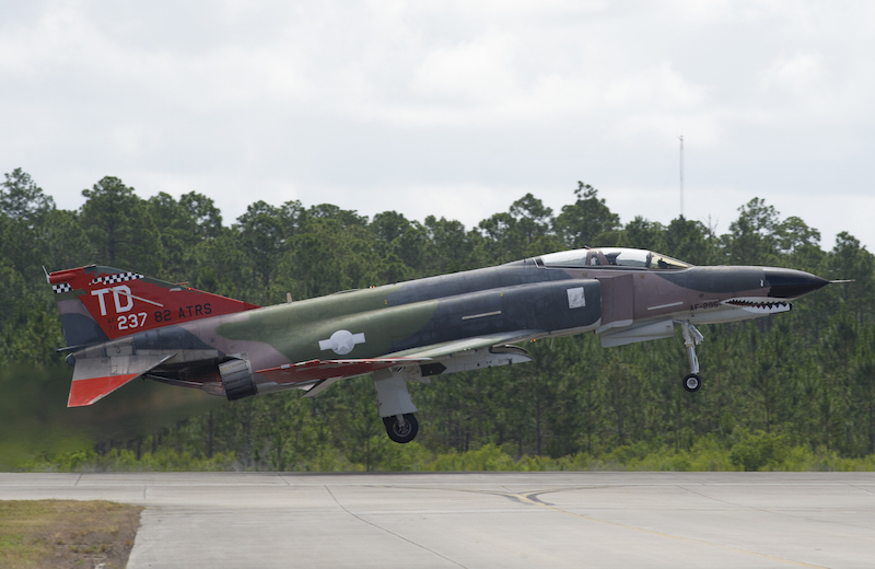 Final Tyndall QF-4s Take Off