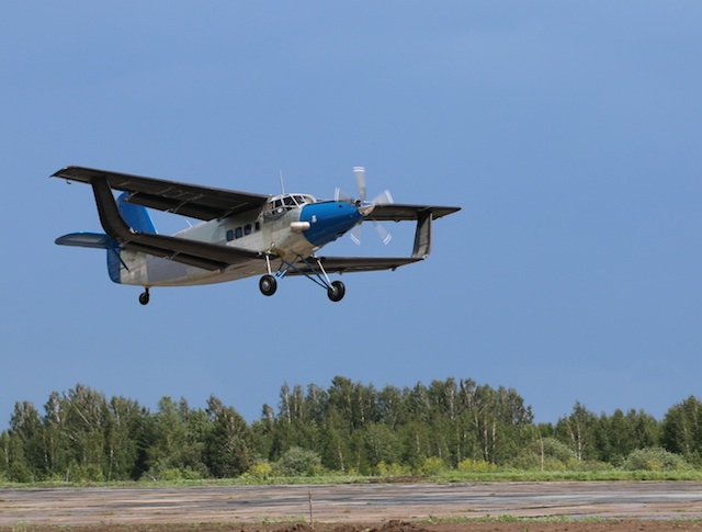 Modernized An-2 Bipe Takes Flight