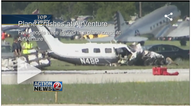 Flights Resume at Oshkosh After Crash