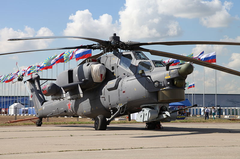 Russian Chopper Crashes During Air Show