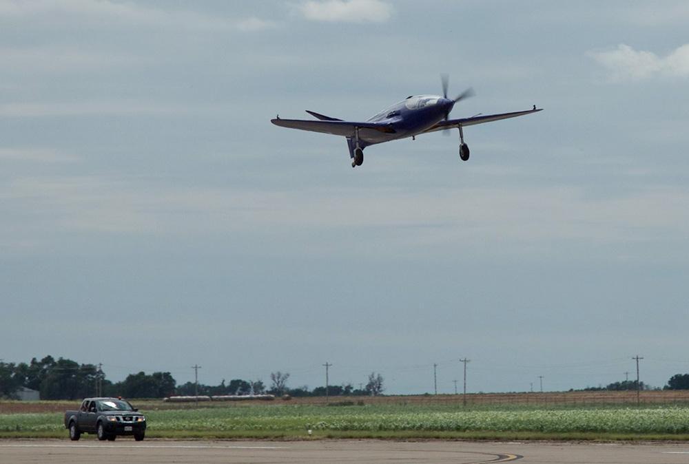 Bugatti Replica Damaged in First Flight