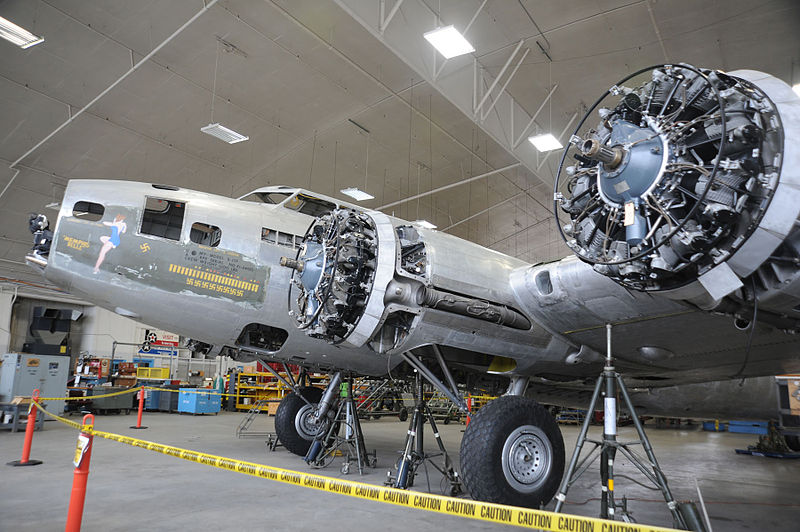 Work Continues on 'Memphis Belle'