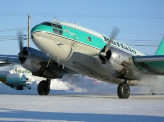 Rare C-46 Belly Lands In Canada