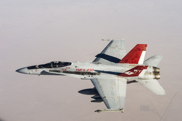 Marine Pilot Lost in Hornet Crash