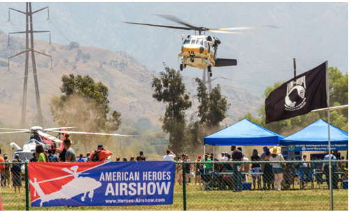 Helicopters to Star at Heroes Air Show