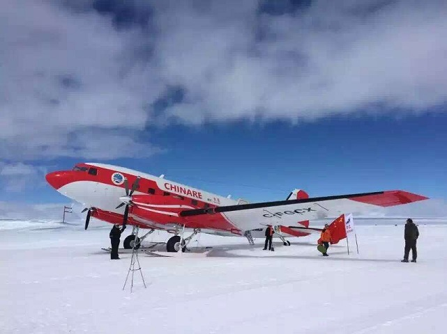 Chinese Research Plane Reaches South Pole