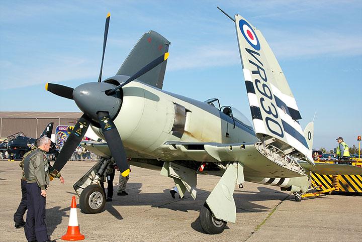 RN Historic Flight to Debut Sea Fury FB.11