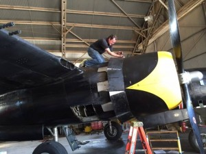 Working-on-the-right-engine-cowling