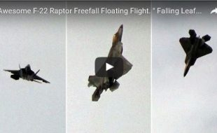 "Incredible video! F-22 Performs the ""Falling Leaf"""