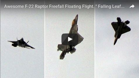 """Incredible video! F-22 Performs the """"Falling Leaf"""""""