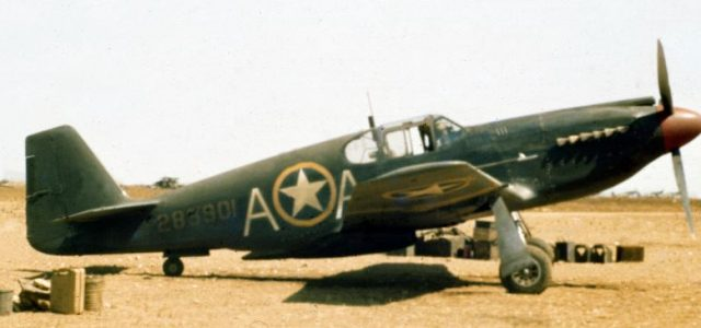 The A-36A Apache — Attack/dive bomber version of the P-51 Mustang