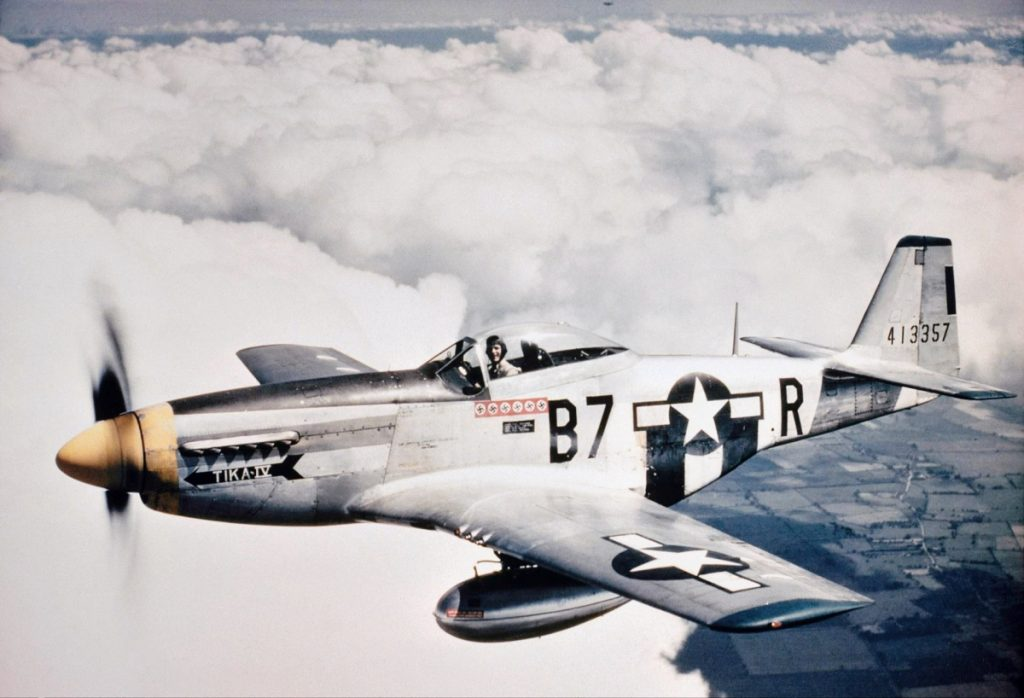 p 51 mustang brought victory to allies in europe during world war ii Four us army air forces p-51 mustang fighter airplanes in formation over the italian countryside during world war ii hulton archive/getty images.