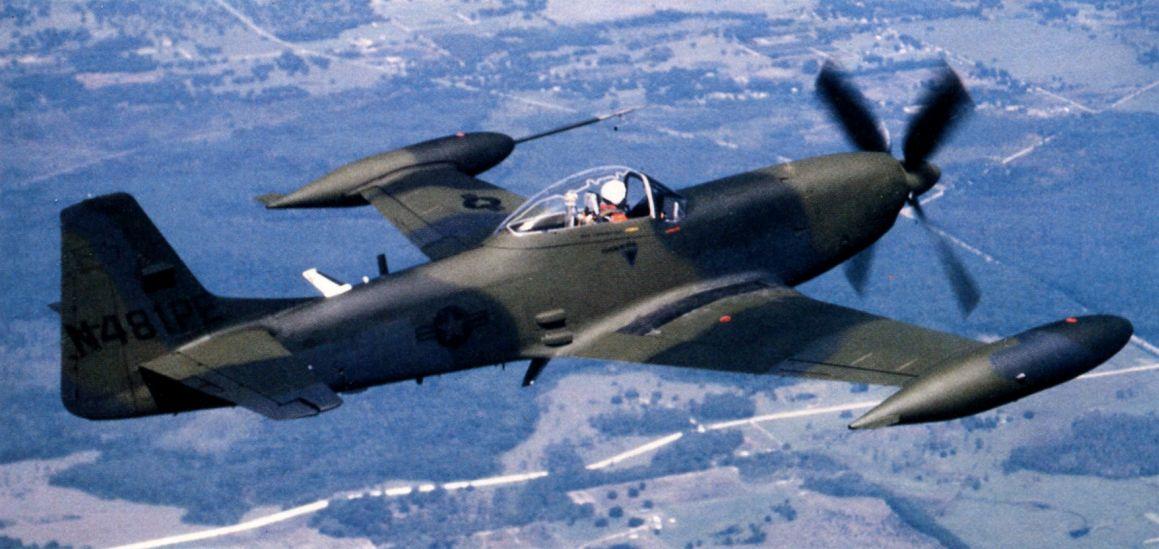 aviation history, ground attack aircraft, Mustang, P-51, Piper PA-48, USAF