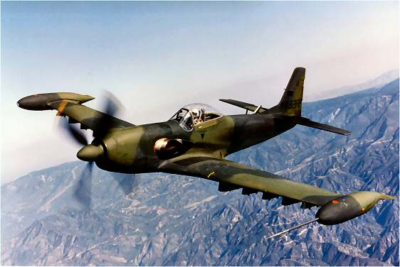 aviation history, ground attack aircraft, Mustang, P-51, Piper PA-48, USAF