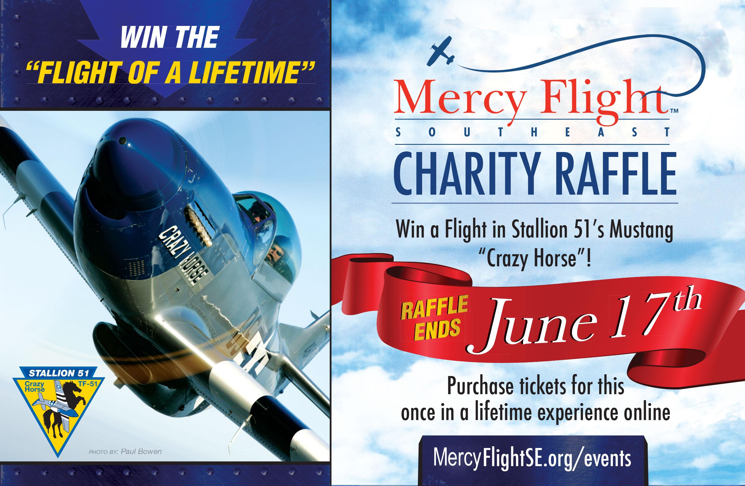 P 51 Mustang Flight Raffle Drawing June 17th Article